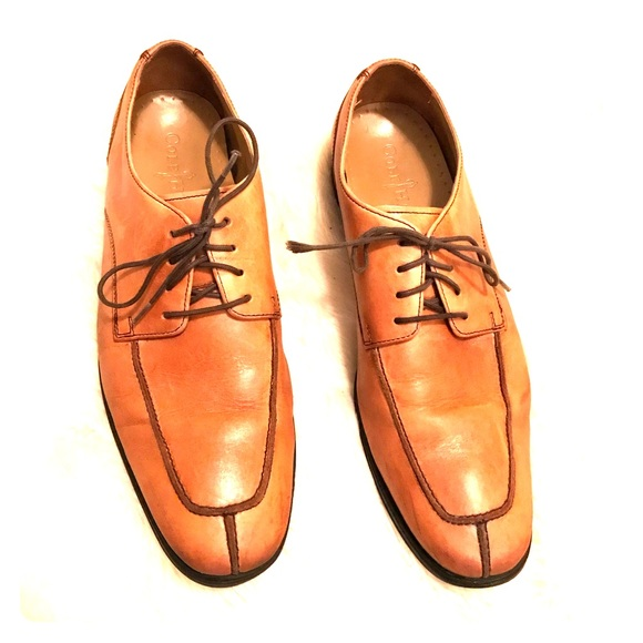 Cole Haan Shoes | Tan Leather Lace Up